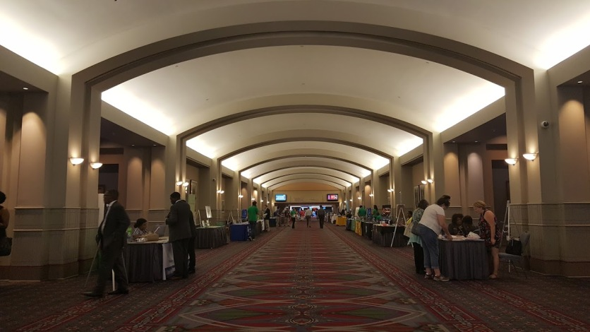 Convention Hall booth row.
