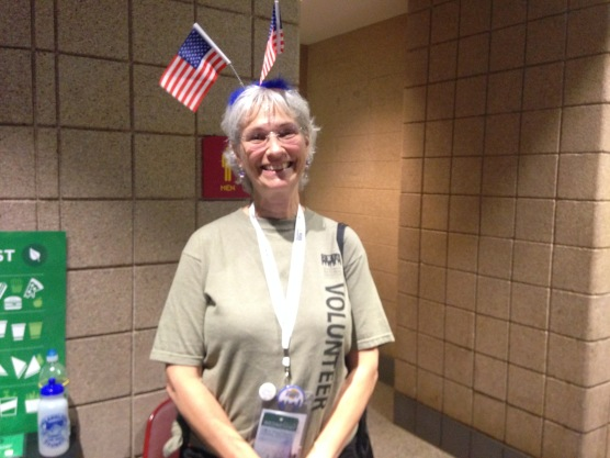 """""""I'm more than happy to be patriotic."""" -This DNC volunteer"""