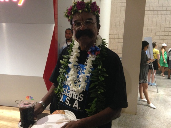 A delegate from the Northern Mariana Islands.
